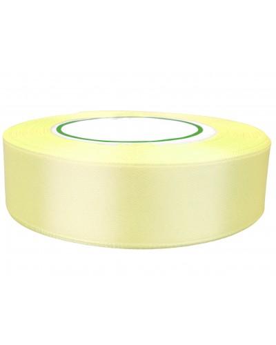 Wstążka satynowa 25mm jasnożółta