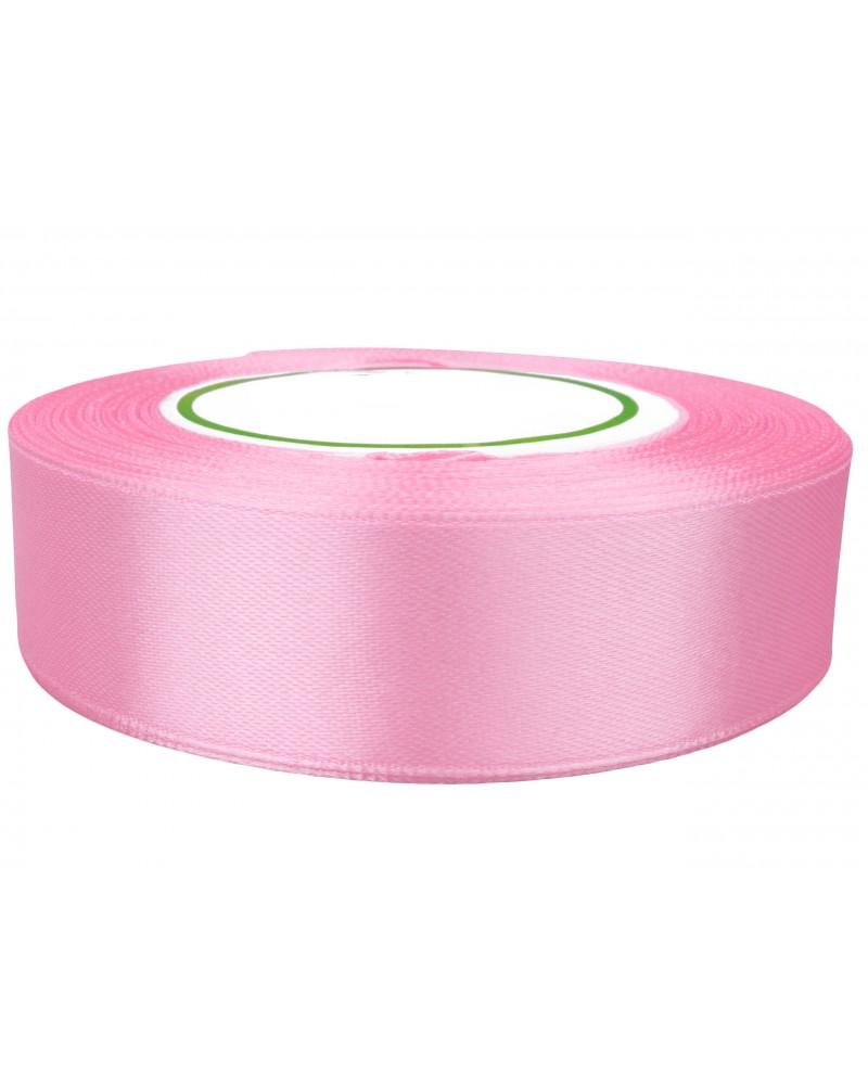 Wstążka satynowa 25mm różowa