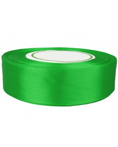 Wstążka satynowa 25mm zielona