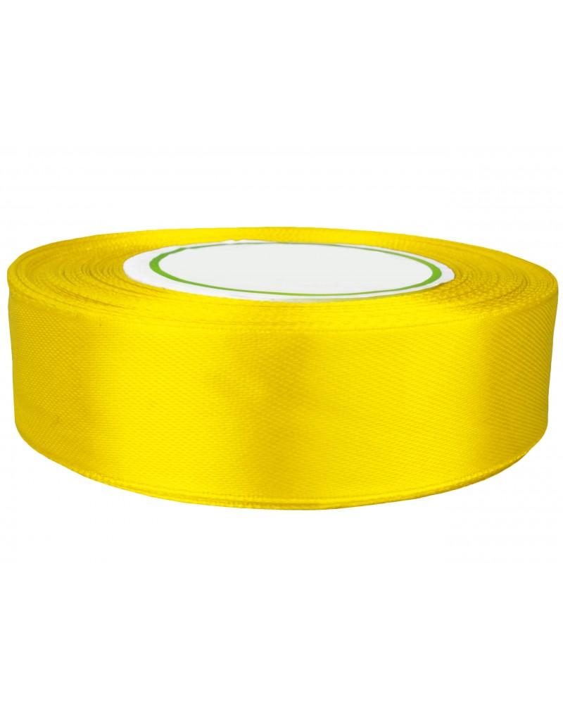 Wstążka satynowa 25mm żółta