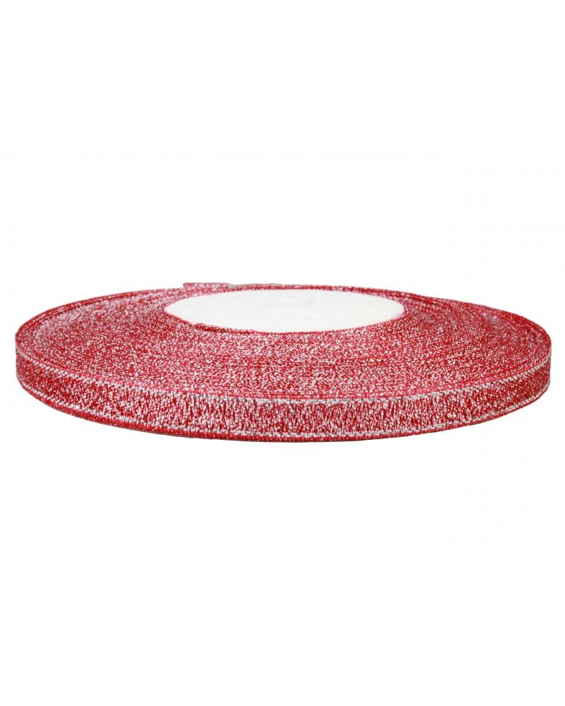 Wstążka brokatowa 6mm czerwona