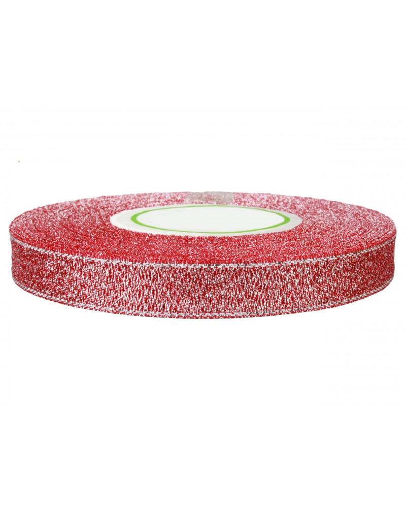 Wstążka brokatowa 12mm czerwona