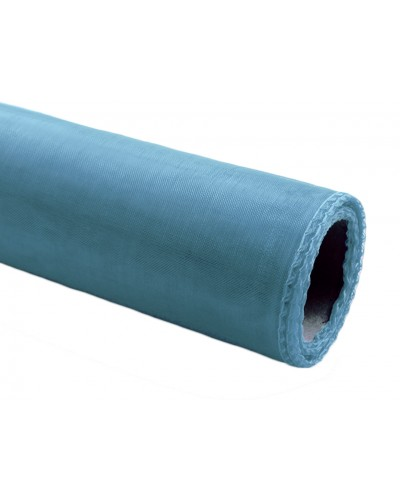 Organza obszywana 40cm x 9m błękitna