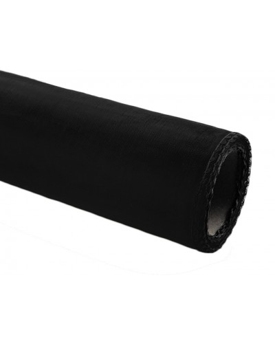 Organza obszywana 40cm x 9m czarna
