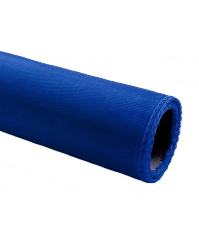 Organza obszywana 40cm x 9m niebieska