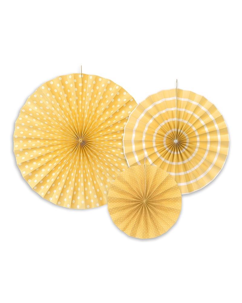Rozety dekoracyjne żółte