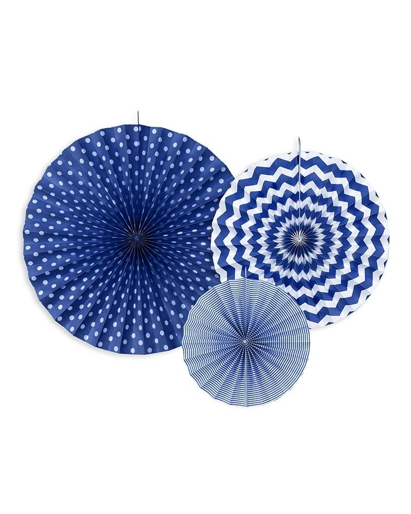 Rozety dekoracyjne niebieskie
