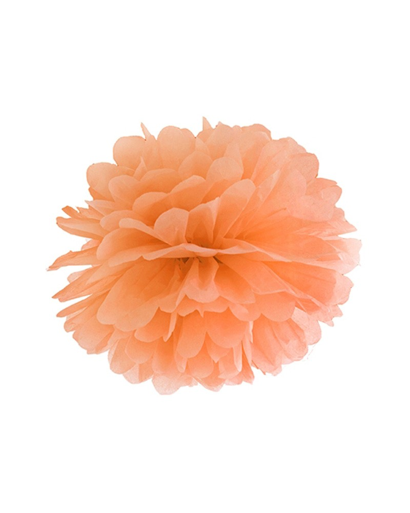 Pompony bibułowe 25cm pomarańczowe