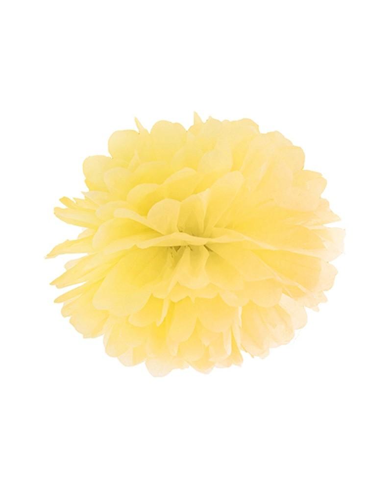 Pompony bibułowe 25cm żółty