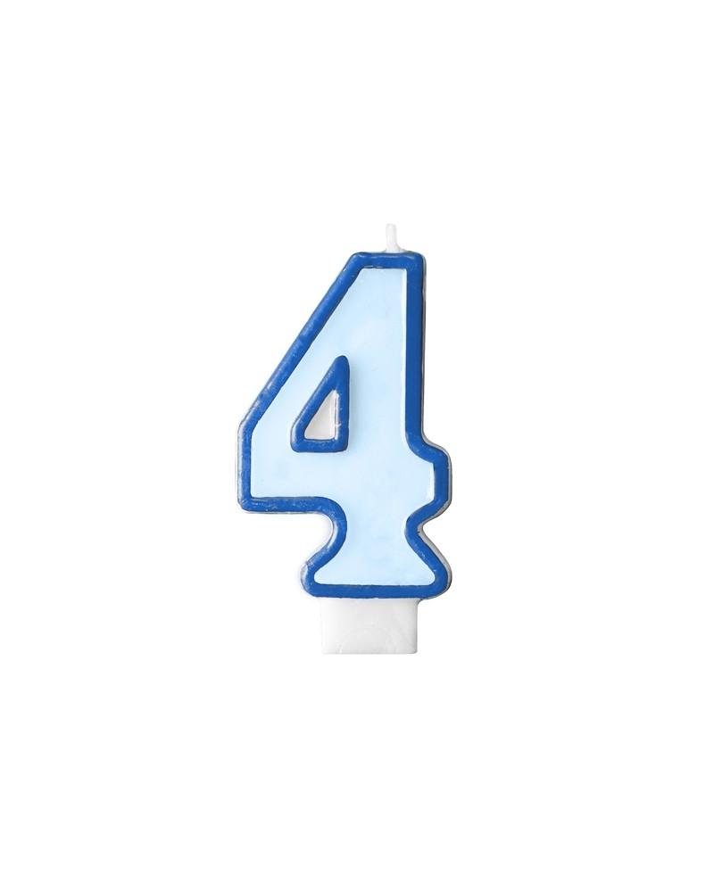 """Świeczka niebieska """"4"""""""
