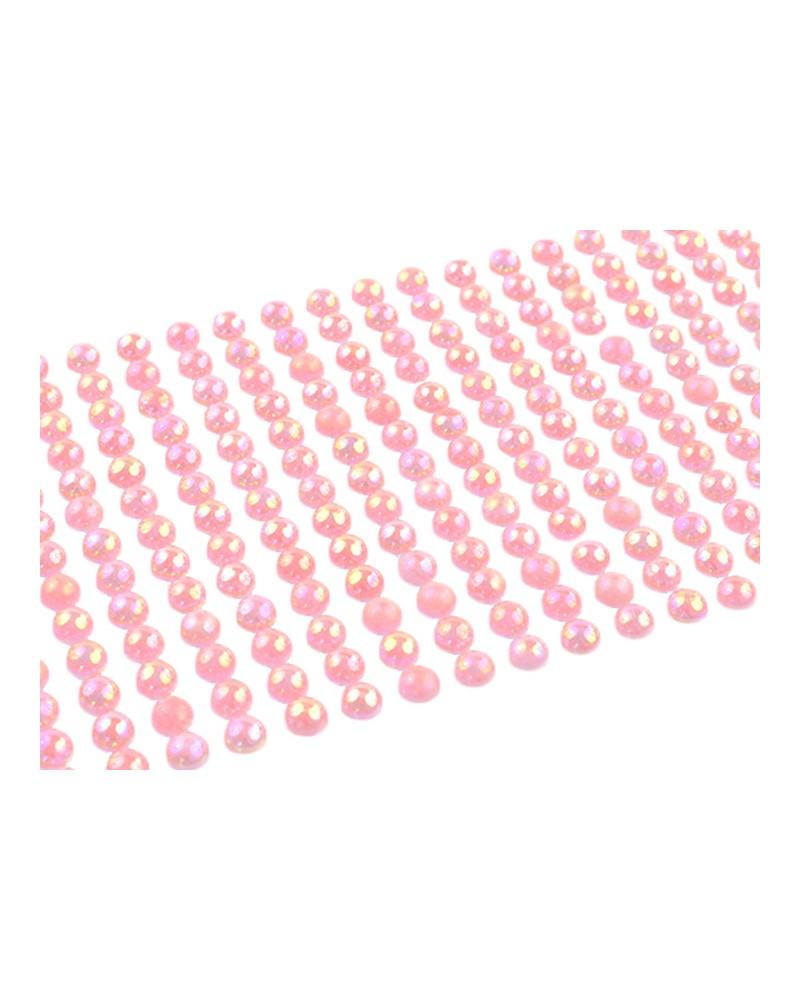 Perełki samoprzylepne 6mm jasnoróżowe