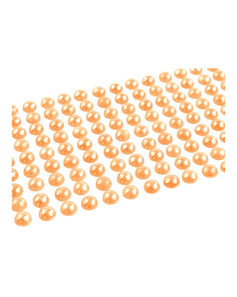 Perełki 8mm pomarańczowe