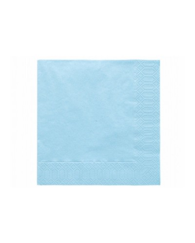 Serwetki 33x33 błękitne