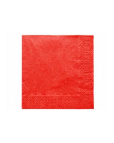 Serwetki 33x33 czerwone