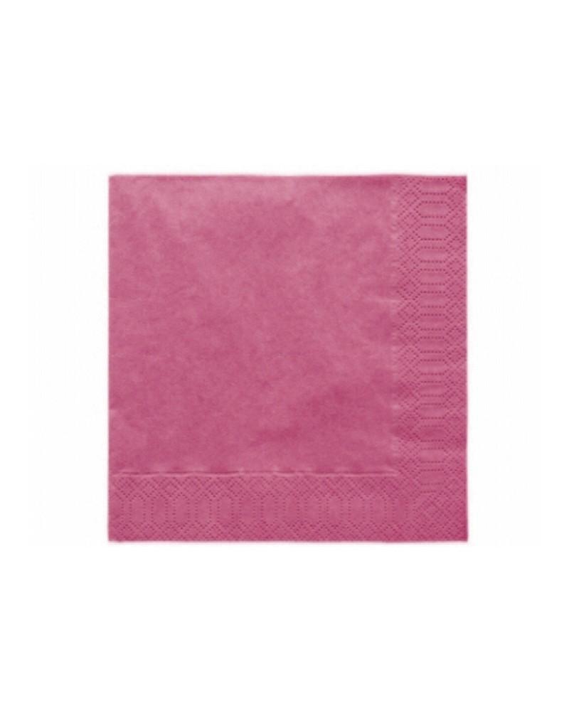 Serwetki 33x33 różowe