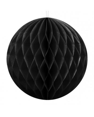 Kula bibułowa Honeycomb 20cm Czarna