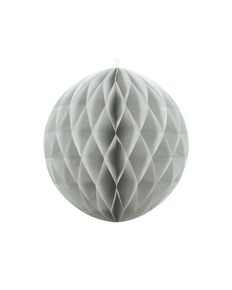 Kula bibułowa Honeycomb 30cm Szara