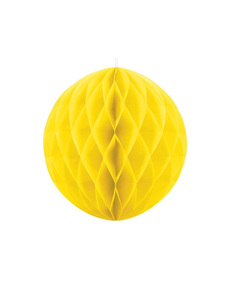 Kula bibułowa Honeycomb 30cm Żółta
