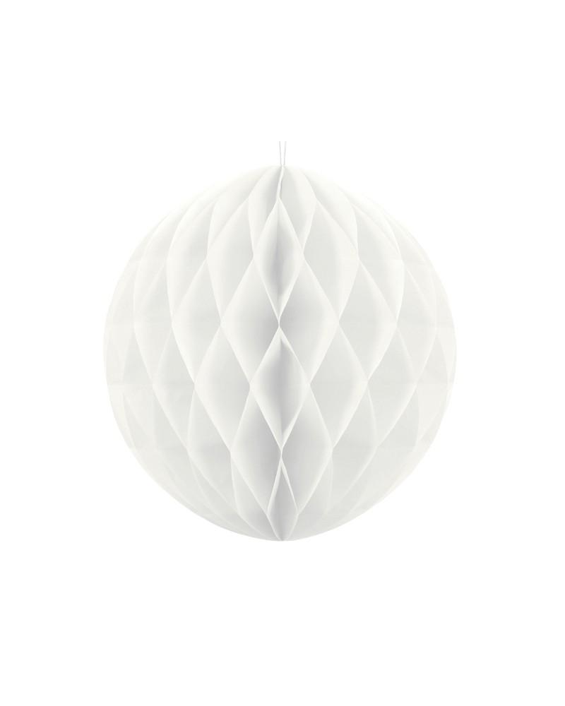 Kula bibułowa Honeycomb 40cm Biała