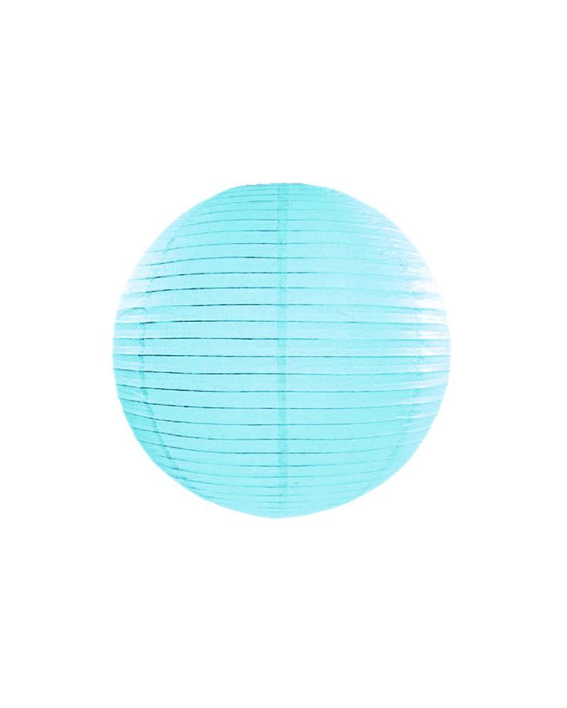 Lampion abażur papierowy 20cm Błękitny