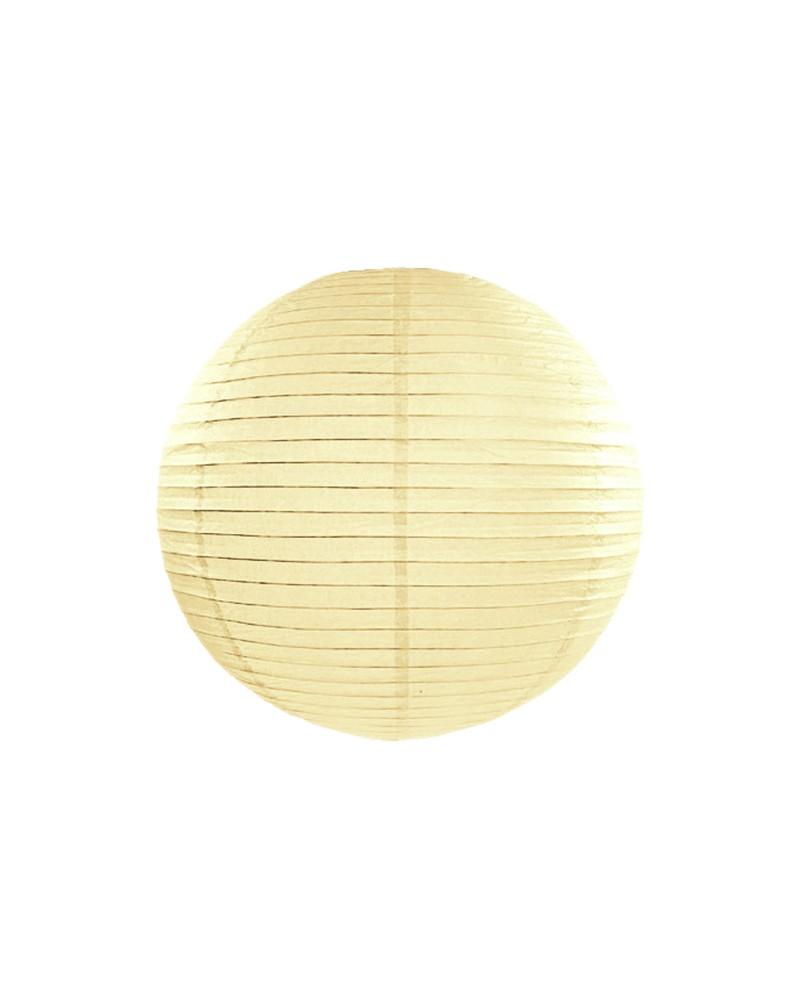 Lampion abażur papierowy 20cm Kremowy