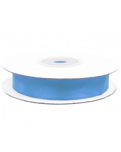 Wstążka tasiemka satynowa z drutem Niebieska
