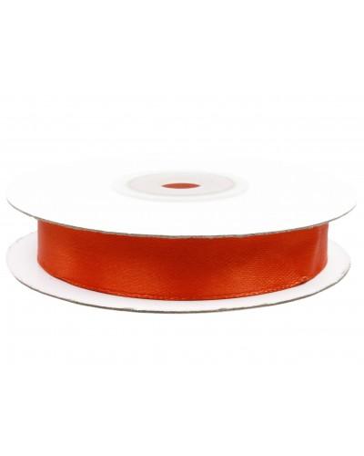 Wstążka tasiemka satynowa z drutem Pomarańczowa