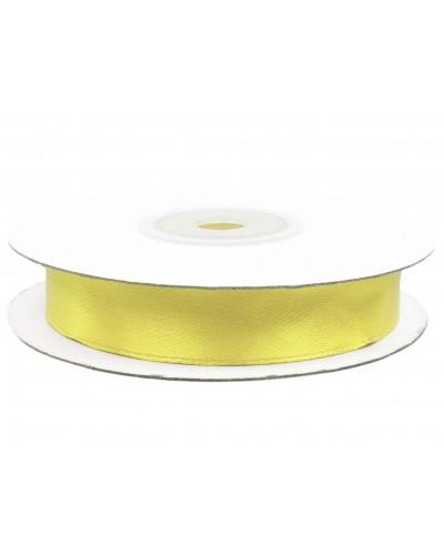 Wstążka tasiemka satynowa z drutem Żółta