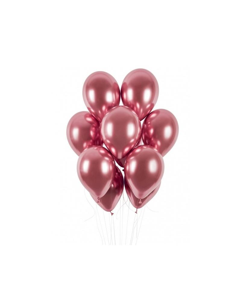 "Balony chromowane 13"" 40cm Shinny Rose Gold"