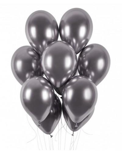 """Balony chromowane 13"""" 40cm Shinny Grafitowe 10szt."""