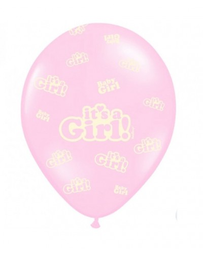 Balon lateksowy It's a Girl Jasnoróżowy
