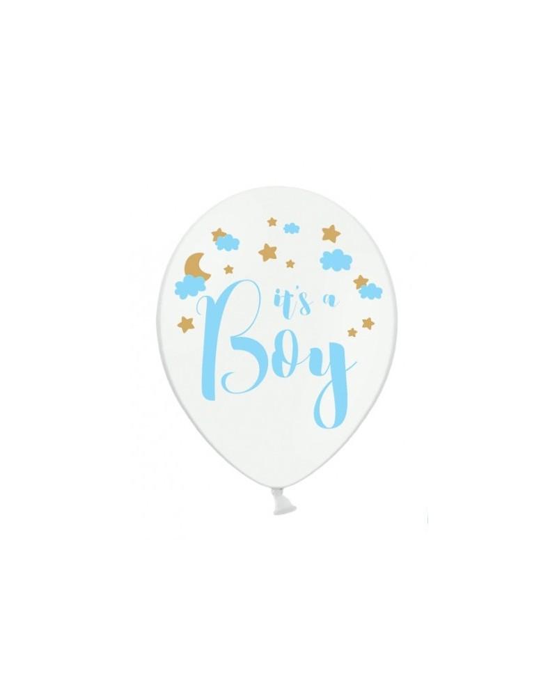 Balon lateksowy It's a boy Biały