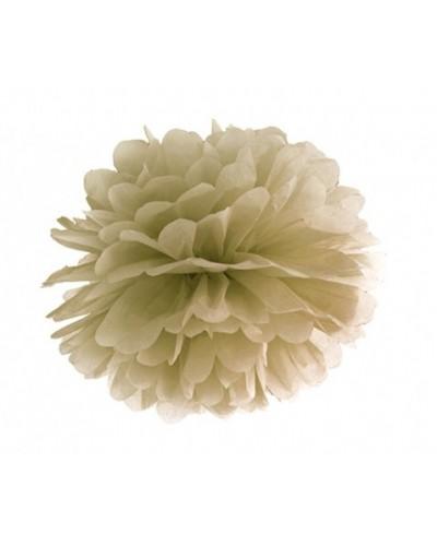 Pompon bibułowy złoty 25cm