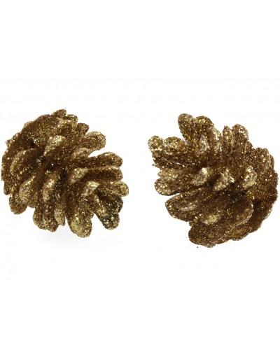 Szyszki brokatowe Złote