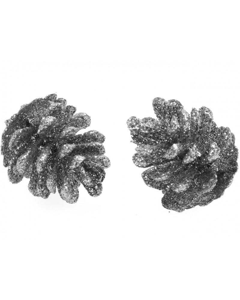 Szyszki brokatowe Srebrne