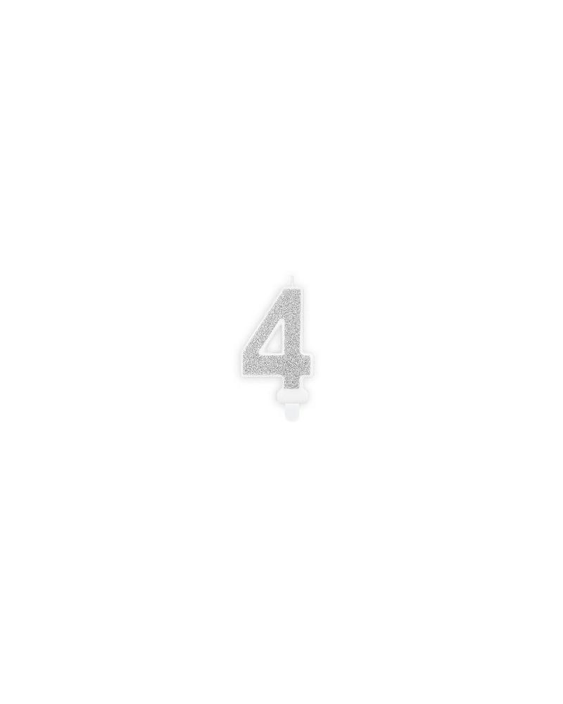 """Świeczka urodzinowa cyferka """"4"""""""
