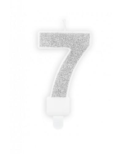 """Świeczka urodzinowa cyferka """"7"""""""