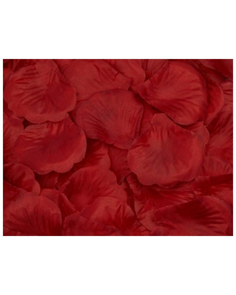 Płatki róż dekoracja w opakowaniu Bordowe