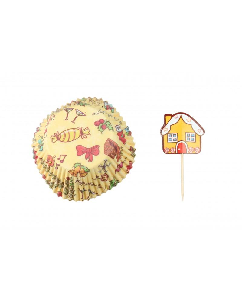 Świąteczne Papiloty na muffinki, Cukierki