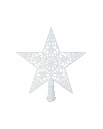 Czubek na choinkę Ażurowa Gwiazda Biała