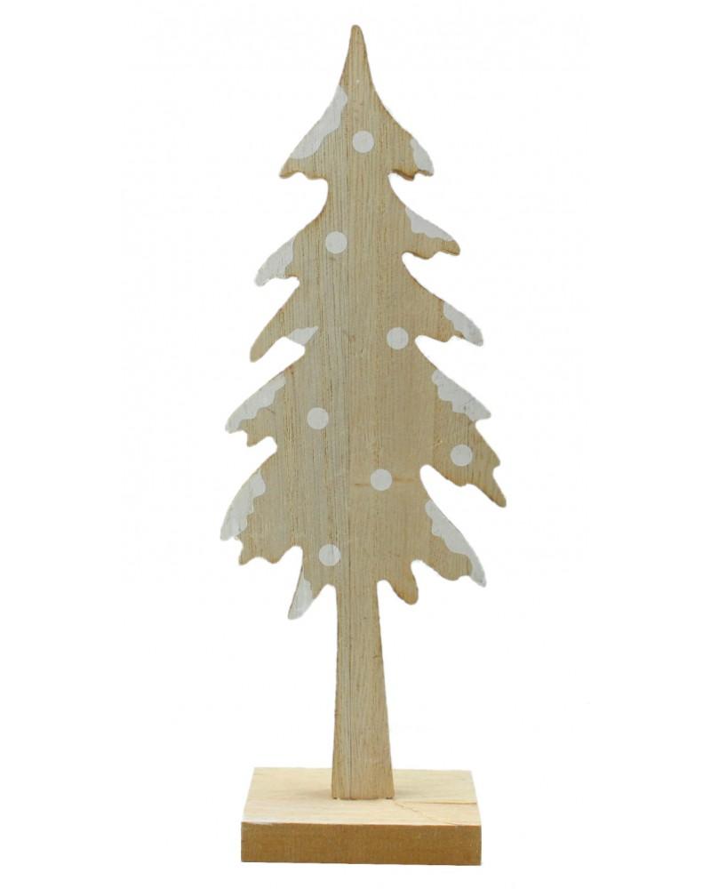 Drewniana Choinka z podstawa 24cm
