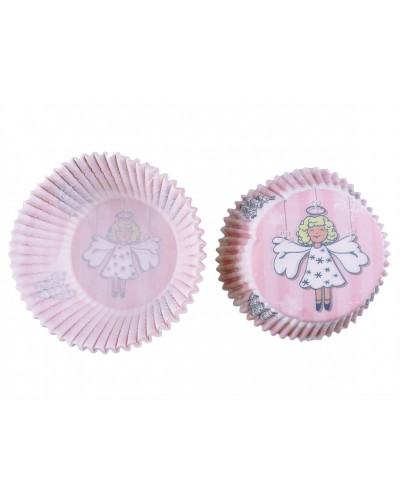 Świąteczne Papiloty na muffinki Aniołek