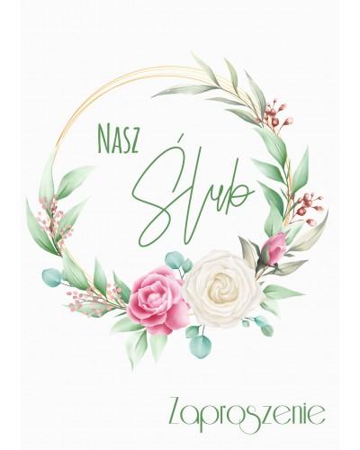 Zaproszenie na ślub - Flower Rings