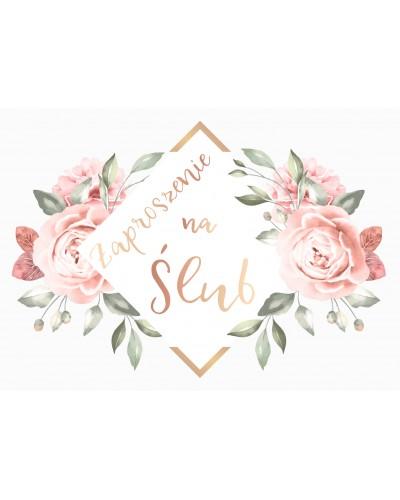 Zaproszenie na ślub - Luxury Flowers