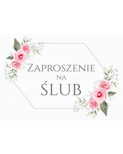 Zaproszenie na ślub - Różany Las