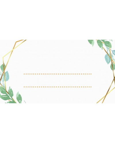 Winietki ślubne - Gold Olives