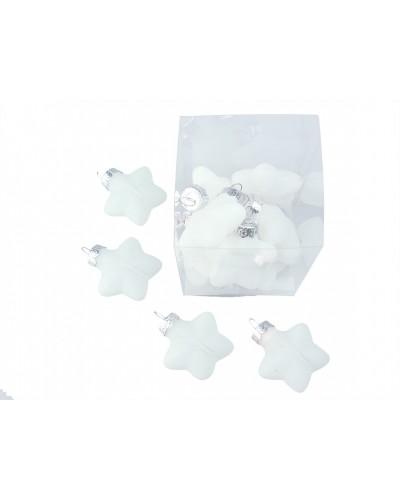 Bombki gwiazdy Arctic White