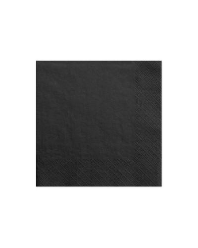 Serwetki 33x33 Czarne