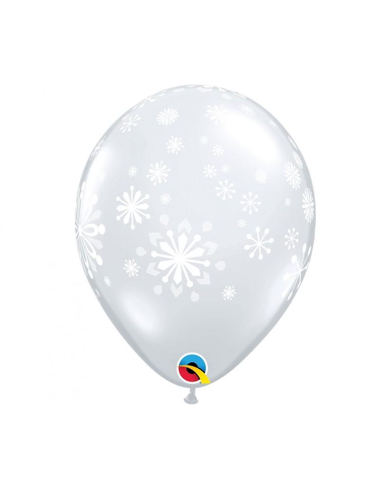 Balon lateksowy Śnieżynki