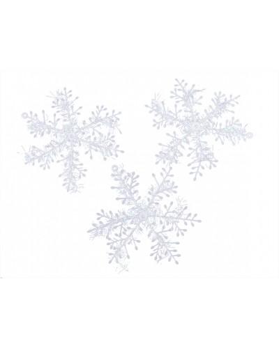 Śnieżynki 3 sztuki, opalizujące 15cm